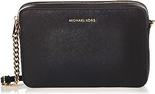 Michael Kors Women's Jet set Travel logo Crossbody Bag, Black