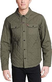 Men's Cotton Diamond Quilted Shirt Jacket