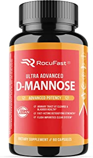 D-Mannose Supplement 1,400mg for Urinary Tract Health, UT Cleanse, and Bladder Health with Cranberry Extract and Dandelion...