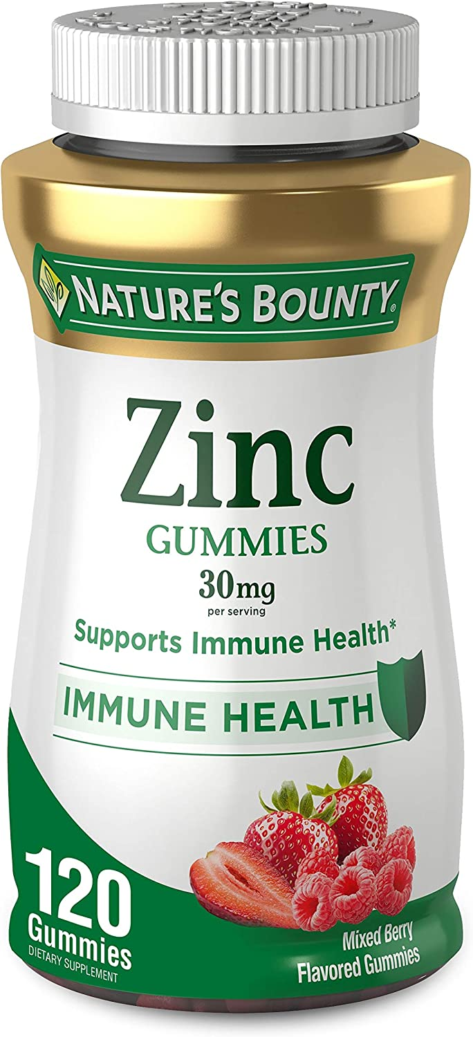 Zinc Gummy by Nature's Bounty, Immune Support, Mixed Berry, 30 mg, 120 count Gummy: Health & Personal Care