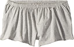 Jersey Shirred Flounce Shorts (Big Kids)