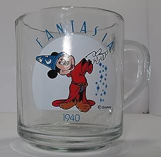 Vintage Disney Glass Mug Mickey Mouse Fantasia
