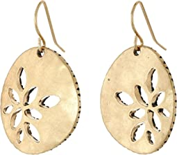 The Sak Pierced Metal Drop Earrings