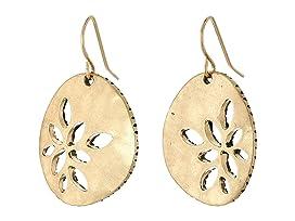Pierced Metal Drop Earrings