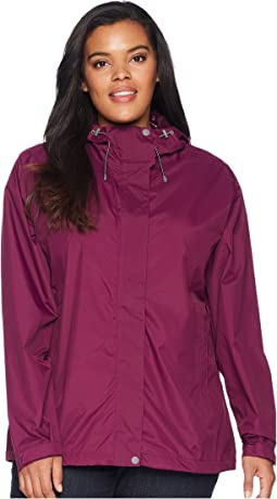 White Sierra Plus Size Trabagon Rain Shell