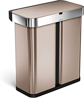 simplehuman Trash Receptacles, Rose Gold Stainless Steel