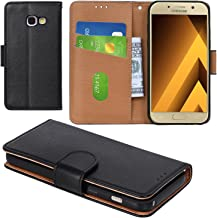 Aicoco Galaxy A3 2017 Case, Flip Cover Leather, Phone Wallet Case for Samsung Galaxy A3 2017 (4.7 inch) - Black