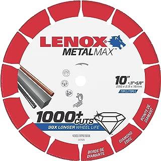 Lenox Tools 1972926 METALMAX Diamond Edge Cutoff Wheel, 10