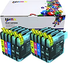 HIINK Compatible Ink Cartridge Replacement for Brother LC65 LC-65 LC-61 LC61 Ink Cartridges use with DCP-165C DCP-375CW MFC-J220 MFC-255CW MFC-J265W MFC-5490CN MFC-6490CW(4B, 2C, 2M, 2Y, 10-Pack)