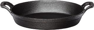 "American Metalcraft CIPOV9567 Cast Iron Oval Casserole Pan with Handles, 12"" L x 6.75"" W, Black"