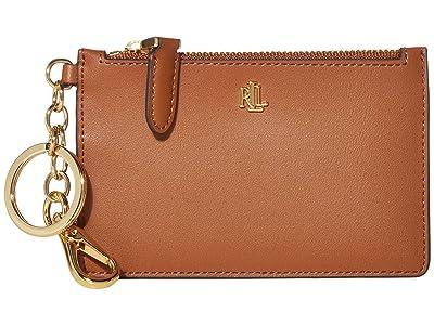 LAUREN Ralph Lauren Zip Card Case (Lauren Tan) Wallet Handbags