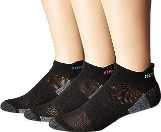 New Balance Poly Tab 3 أزواج أسود/وردي/أسود/أخضر/أسود/أسود/أسود/أسود/إم دي (حذاء رجالي 7. 5-9، حذاء نسائي 6-10)