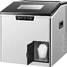 Machine à glace de 2 en 1 contre-1 et rasoir de glace - 88lbs / jour, 32 glaçons en 11 minutes, remplissage automatique d'...