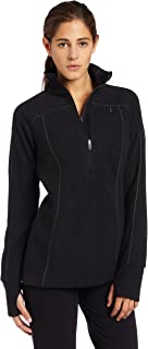 Columbia Women's Silver Ridge Grid 1/2 Zip Fleece Knit Top (Black, X-Small)