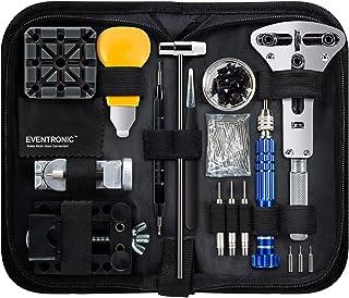 Eventronic Tool Kit Professionale di Riparazione Orologi, Attrezzi di Apertura Orologi e Kit di Riparazione Orologio e Por...