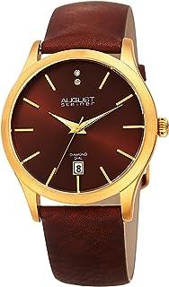 August Steiner Women's Leather Band Watch