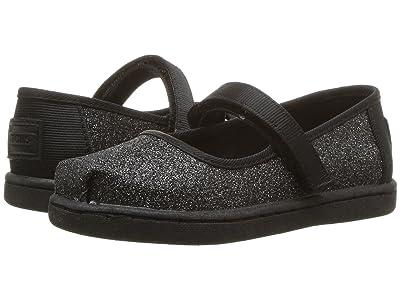 TOMS Kids Mary Jane (Infant/Toddler/Little Kid) (Black Iridescent Glimmer) Girls Shoes