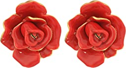 Oscar de la Renta - Rosette Button C Earrings
