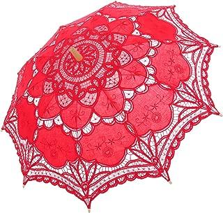 Topwedding Handmade Wedding Umbrella Parasol Victorian Lady Costume Accessory