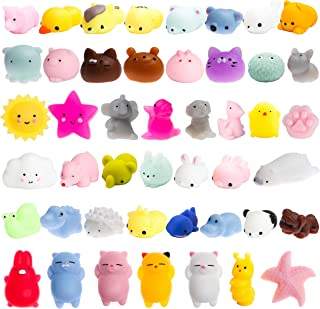 WATINC 40 Pcs Cute Animal Squishy, Kawaii Mini Soft Squeeze Toy,Fidget Hand Toy for Kids Gift,Stress Relief,Decoration, 40...