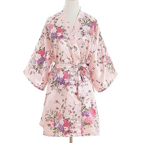 a95fc3b122 Cherry Blossoms Floral Kimono Robe Silk Nightgown Bridesmaid Robe  Wedding  Robe