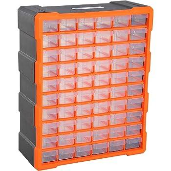 DURHAND Armario Organizador de Herramientas 60 cajones tipo Estantería DIY Caja Cajonera de Herramientas 38x16x47.5cm PP: Amazon.es: Hogar