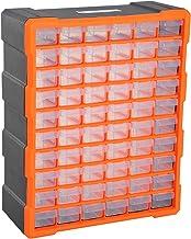 DURHAND Armario Organizador de Herramientas 60 cajones tipo Estantería DIY Caja Cajonera de Herramientas 38x16x47.5cm PP
