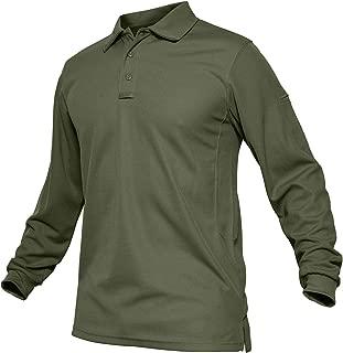 Men's Outdoor Sport Performance Polo Long and Short Sleeve Shirt Tctical Top Tee Shirt