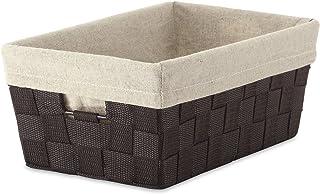 Whitmor Bolsa de Almacenamiento con agarradera, Tejida, Marrón, Small Shelf Tote W/Liner, 1