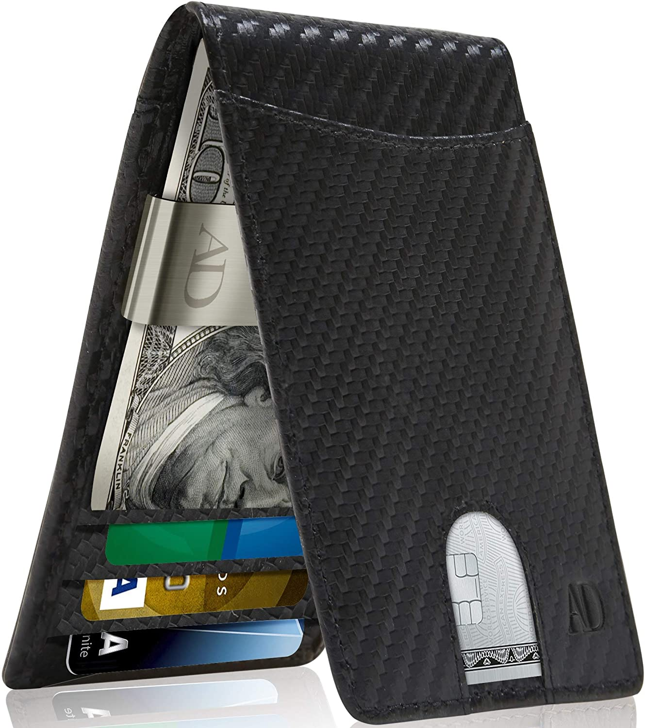 Real New mail order Leather Wallets For Men - Department store Wallet Money Clip RFID Bifold Fro