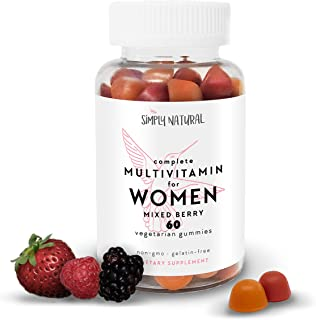 Women's Gummy Multivitamins (30 Day Supply) : Daily Vitamins and Minerals Including Vitamin C and D3 for Immunity, Biotin ...