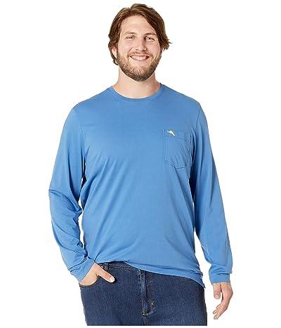 Tommy Bahama Big & Tall Big Tall New Bali Skyline Long Sleeve T-Shirt (Bengal Blue) Men
