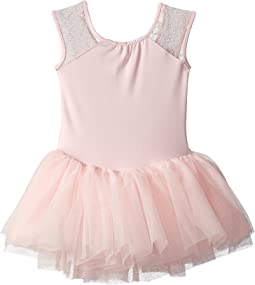 Cap Sleeve Bow Mesh Tutu Leotard (Toddler/Little Kids/Big Kids)
