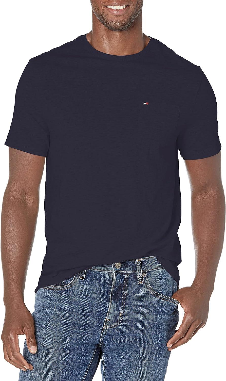 Tommy Hilfiger mens Short Sleeve Crewneck T Shirt With Pocket
