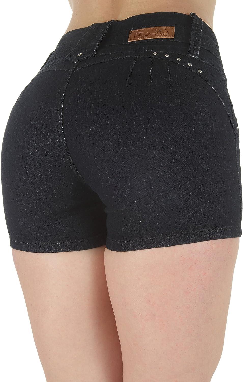Fashion2Love Plus Size, Butt Lifting, Levanta Cola, High Waist Denim Booty Shorts