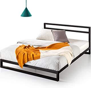 ZINUS Trisha Metal Platforma Bed Frame with Headboard / Wood Slat Support / No Box Spring Needed / Easy Assembly, Queen