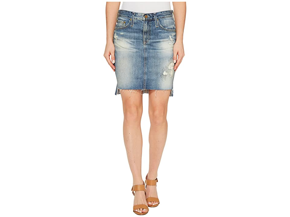 Image of AG Adriano Goldschmied Erin Skirt in 17 Years Lapse Mended (17 Years Lapse Mended) Women's Skirt