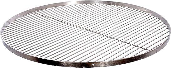 Grillrost Durchmesser 60 cm mit Reling 20 mm 4 mm Edelstahl für Schwenkgrill BBQ Dreibein