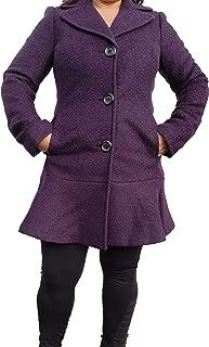 Women's Flounce Wool-Blend Coat -