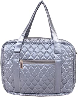 DIWI 10 X 7 X 2.75 Inches Large Sizes Bible Puffer Tote Bible Cover Bible Purse Book Bag Book Cover Quilted Nylon Fit for Large Print NLT Life Application Study Bible (1902C Blue Gray, L)