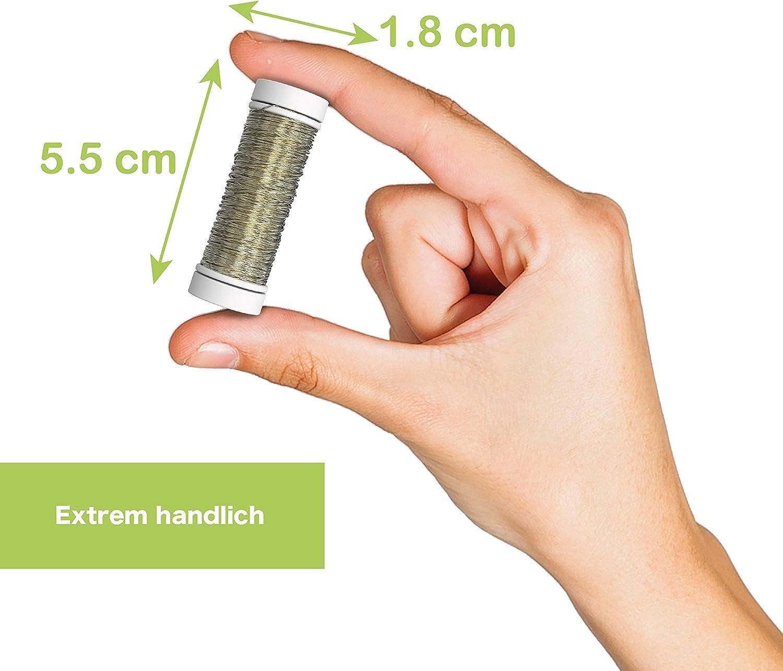 Verbesserter Schmuck Draht zum Dekorieren in Gold Gold DE Versand /Ø 0,30 mm Hochwertiger Draht zum Basteln Schmuckdraht Premium Blumendraht TALVANI Basteldraht 50 m