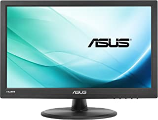 """ASUS VT168H 15.6"""" (1366x768) Touch Monitor, 10-point Touch, HDMI, Flicker free, Low Blue Light Black"""