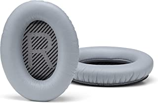 Accessory House Replacement Ear Cushions for Bose Quiet Comfort 35 (QC35) Headphones. Complete with QC35 Shaped Scrims with 'L and R' Lettering (QC35 Grey)