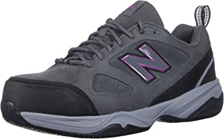 New Balance Women's 627v2 Work Training Shoe, Grey/Pink, 9 B US