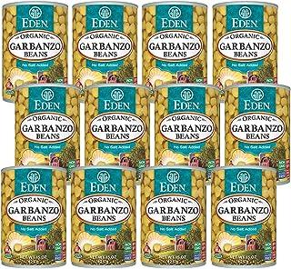 Eden Organic Garbanzo Beans, 15 oz Can (12-Pack Case), No Salt, Non-GMO, Gluten Free, Vegan, Kosher, U.S. Grown, Heat and ...