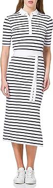 Tommy Hilfiger Stripe Regular Midi Polo Dress Robe dcontracte Femme