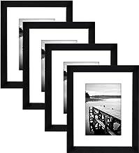مجموعة إطارات صور سوداء من 4 قطع من Americanflat | تعرض الصور 20.32 سم × 25.4 سم. زجاج مقاوم للكسر تتضمن أدوات التعليق!