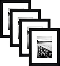 Americanflat Picture Frames, 4 Pack-8x10, Black