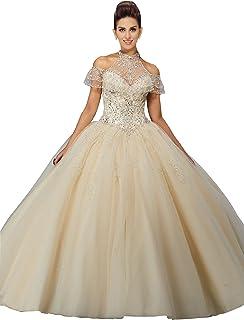High Neck Women S Wedding Dresses Amazon Com