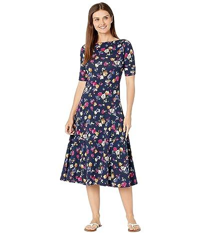 LAUREN Ralph Lauren Petite Floral Stretch Cotton Midi Dress